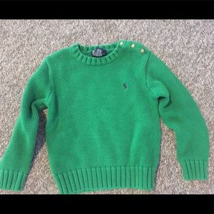 Boy's Ralph Lauren Polo Green Sweater